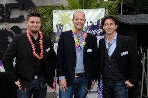 Die Herren Westhoff, Pansch & Ziebold bei der Affiliate-Deals Summer-Lounge
